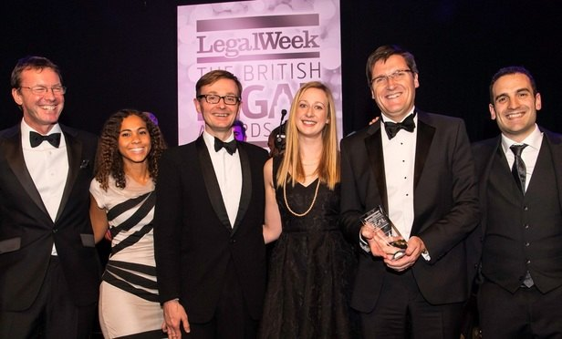 Pinsents, Linklaters and Vodafone among winners at British Legal Awards